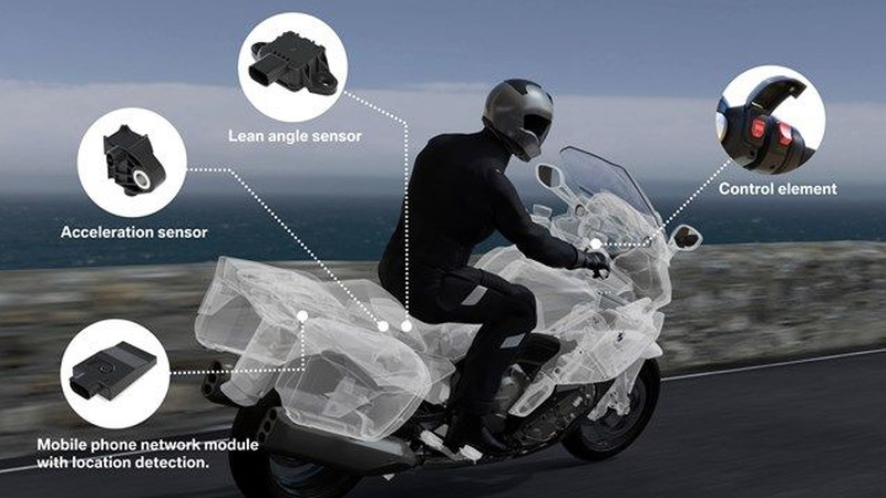 BMW wyposaży motocykle w automatyczny system ratunkowy